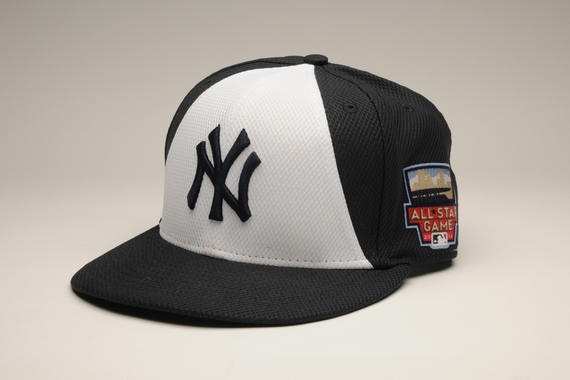 Cap worn by New York Yankees shortstop Derek Jeter during the 2014 All-Star Game, July 15, 2014 - B-110-2014 (Milo Stewart Jr./National Baseball Hall of Fame Library)