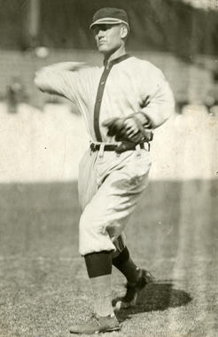 Posed action of Walter Johnson of the Washington Senators, 1907 - BL-1521-68WTa (National Baseball Hall of Fame Library)