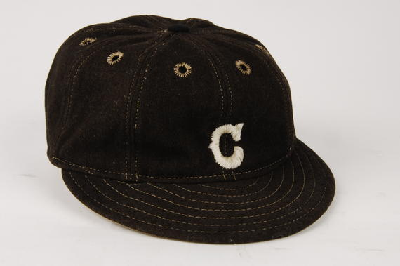Cleveland uniform cap worn by Nap Lajoie - B-109-37e (Milo Stewart Jr./National Baseball Hall of Fame Library)