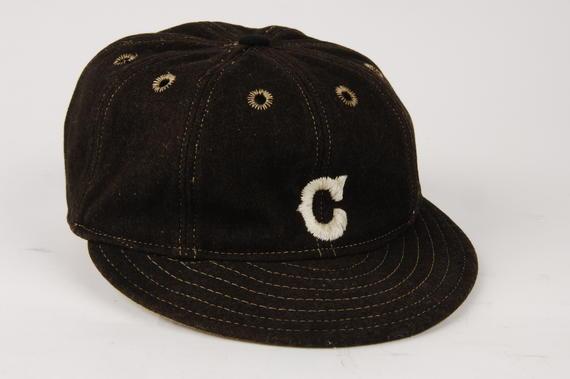 Cleveland uniform cap worn by Nap Lajoie - B-109-37e (Milo Stewart Jr./National Baseball Hall of Fame Library)