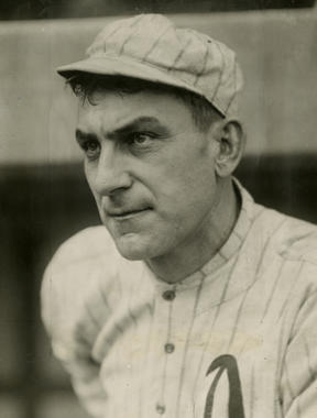 Napoleon Lajoie of the Philadelphia Athletics. BL-1505-68WT (Charles Conlon / National Baseball Hall of Fame Library)