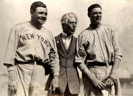 Babe Ruth, Judge Landis and Bob Meusel in 1922 - BL-1508-68 (National Baseball Hall of Fame Library)