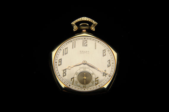 A 1928 World Series wrist watch issued to Commissioner Kenesaw M. Landis. B-14.41 (Milo Stewart, Jr. / National Baseball Hall of Fame)