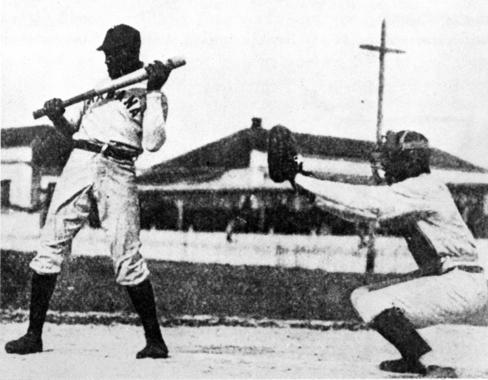 Henry Pop Lloyd batting for the Havana, Cuba team - BL-50-2008-26 (Larry Hogan/National Baseball Hall of Fame Library)