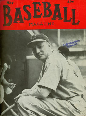Bucky Walters featured on the front cover of May 1941 issue of