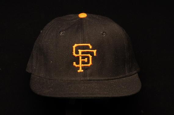 San Francisco Giants uniform cap worn by Juan Marichal during the 1969 season - B-249-83 (Milo Stewart Jr./National Baseball Hall of Fame Library)