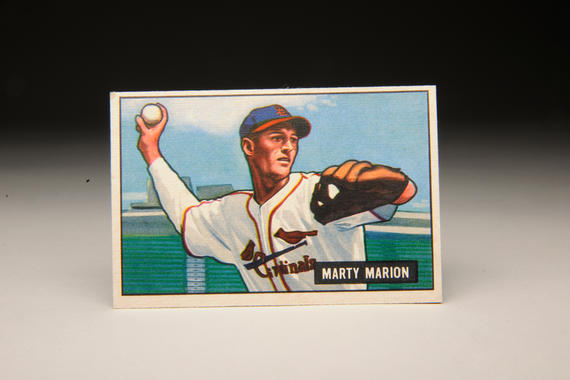 A baseball card for Marty Marion of the St. Louis Cardinals. (Milo Stewart, Jr. / National Baseball Hall of Fame)
