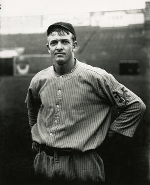 Full-length portrait of Christy Matthewson while with New York - BL-7319-89 (Charles M. Conlon/National Baseball Hall of Fame Library)