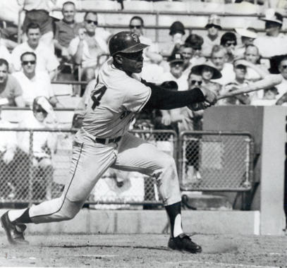 Willie Mays bats in a game for the San Francisco Giants - BL-3539-83 (National Baseball Hall of Fame Library)