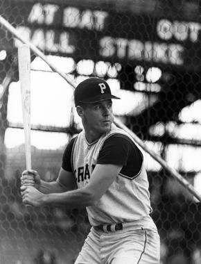 Pittsburgh Pirates Bill Mazeroski in the batting cage - BL-2037-98 (National Baseball Hall of Fame Library)
