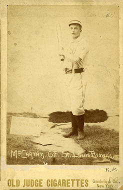 Old Judge Card of St. Louis Browns Tom McCarthy - BL-141-46 (National Baseball Hall of Fame Library)