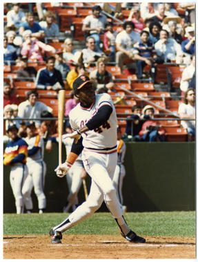 Willie McCovey of the San Francisco Giants batting - BL-111 (Doug McWilliams/National Baseball Hall of Fame Library)