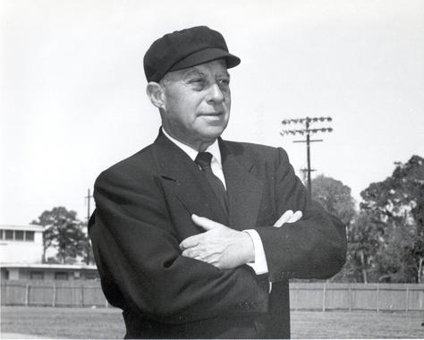 Hall of Fame umpire Bill McGowan ordered Cleveland pitcher Johnny Allen to take off his tattered sleeve sweatshirt – BL-177-63 (National Baseball Hall of Fame Library)