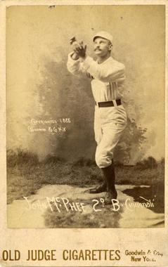 Posed action of Cincinnati's Bid McPhee, 1888 - BL-141-46 (National Baseball Hall of Fame Library)