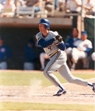 Paul Molitor batting in-game as a Milwaukee Brewer - BL-7424-89 (Photo File/National Baseball Hall of Fame Library)
