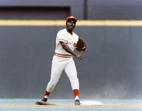 Game action of Cincinnati Reds Joe Morgan, 1975 - BL-1864-75 (National Baseball Hall of Fame Library)