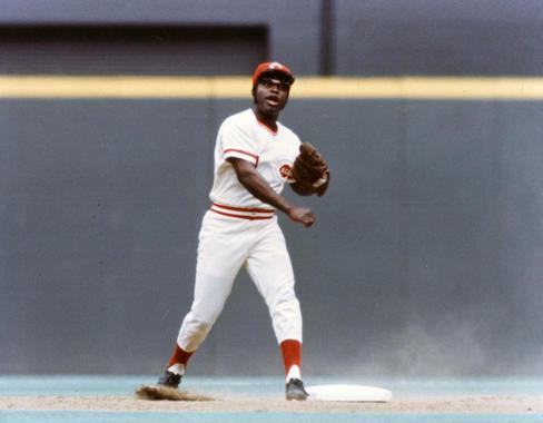 Game action of Cincinnati Reds Joe Morgan, 1975 - BL-1864-75 (National Baseball Hall of Fame Library)