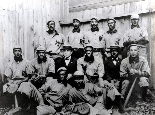 Philadelphia Giants with Sol White back row middle - BL-4125-99 (National Baseball Hall of Fame Library)