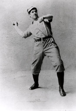 Kid Nichols in pitching pose - BL-5466-97 (National Baseball Hall of Fame Library)