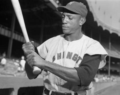 Carlos Paula, a Cuban left fielder for the Washington Senators. (Osvaldo Salas Collection / National Baseball Hall of Fame Library)