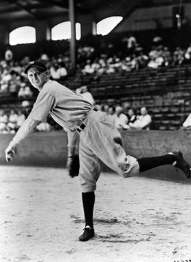 Posed pitching of New York Yankees Herb Pennock - BL-848-63 (National Baseball Hall of Fame Library)
