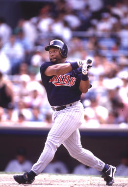 Kirby Puckett batting in-game for the Minnesota Twins - BL-769-97 (National Baseball Hall of Fame Library)