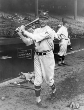 Washington Senators Sam Rice - BL-1527-68WT (National Baseball Hall of Fame Library)