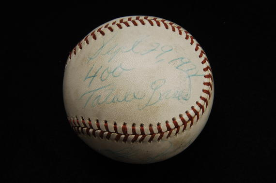 Ball from Red Sox game on 9/29/78, when Jim Rice logged his milestone 400th total base of the season - B-227-78 (Milo Stewart Jr./National Baseball Hall of Fame Library)
