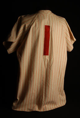 Philadelphia Phillies uniform shirt worn by Rich Ashburn in the 1950 World Series - B-264.95  (Milo Stewart Jr./National Baseball Hall of Fame Library)