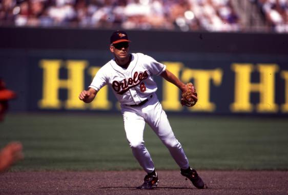 Game action shot of Baltimore Orioles Cal Ripken, Jr., 1995 - BL-1686-2000 (Michael Ponzini/National Baseball Hall of Fame Library)