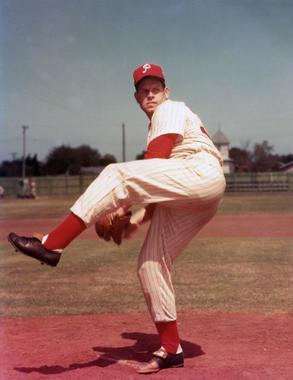 Robin Roberts of the Philadelphia Phillies. BL-10874-89 (PhotoFile / National Baseball Hall of Fame Library)