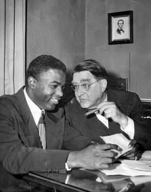 Jackie Robinson and Branch Rickey, BL_1529_68WTA_Rickey_NBL  (National Baseball Hall of Fame Library)