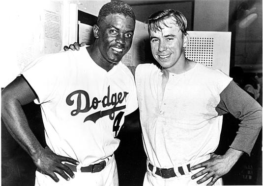 Jackie Robinson and Pee Wee Reese - BL-112-2006 (National Baseball Hall of Fame Library)