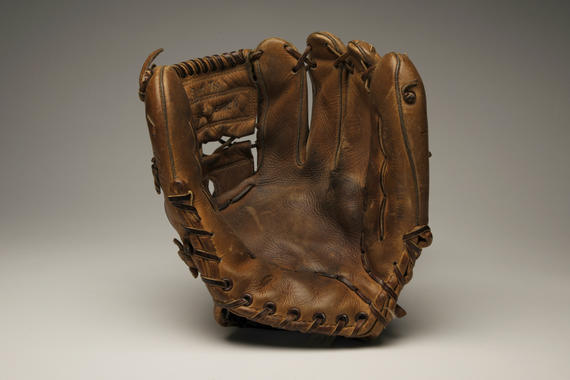 Glove used by Baltimore Orioles third baseman Brooks Robinson during the 1970 World Series, when he was named Series MVP - B-461-71 (Milo Stewart Jr./National Baseball Hall of Fame Library)