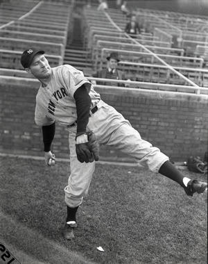 Posed pitching shot of New York Yankees Red Ruffing, 1938 - BL-282-71 (National Baseball Hall of Fame Library)