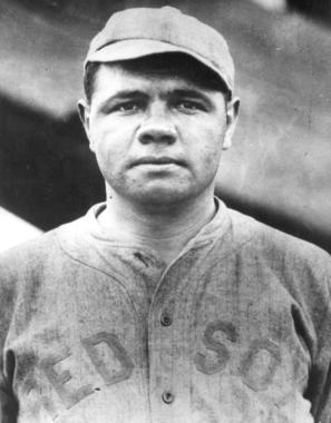 Head shot of Babe Ruth in his Red Sox uniform. BL-439.75