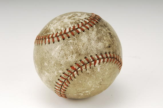 Ball which Babe Ruth hit for his final career home run, his 714th, in a game between the Braves and Pirates May 25, 1935 - B-16-48 (Milo Stewart Jr./National Baseball Hall of Fame Library)
