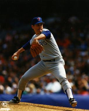 Nolan Ryan, Texas Rangers - BL-5599-97 (Photo File / National Baseball Hall of Fame Library)