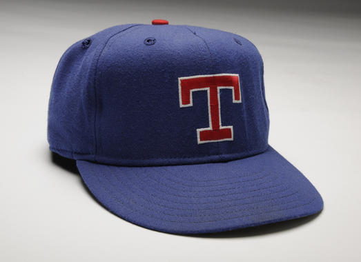 Cap worn by Nolan Ryan while pitching his seventh career no-hitter, against the Blue Jays in Texas, May 1, 1991 - B-96-91 (Milo Stewart Jr./National Baseball Hall of Fame Library)