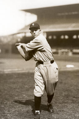 Joe Sewell of the Cleveland Indians posed batting - BL-928.63 (National Baseball Hall of Fame Library)