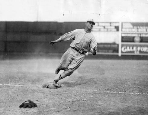 George Sisler running the bases - BL-667-68 (National Baseball Hall of Fame Library)