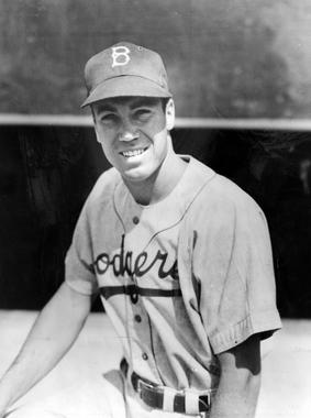 Posed photograph of Duke Snider, 1948. BL-4307.75 (National Baseball Hall of Fame Library)