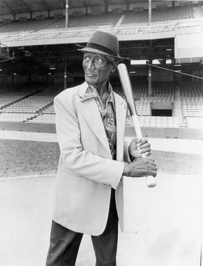 Turkey Stearnes at Tiger stadium, August 1979 - BL-2089-2000 (National Baseball Hall of Fame Library)