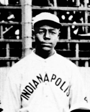 Ben Taylor, first baseman of the Negro Leagues. Photo taken from team portrait of the 1915 Indianapolis ABC's - BL-3754-72 (National Baseball Hall of Fame Library)