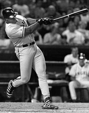 Frank Thomas of the Chicago White Sox batting in game - BL-2281-99 (John Cordes/National Baseball Hall of Fame Library)