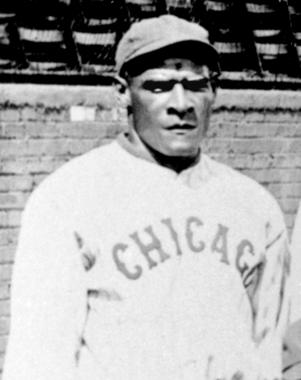 Cristobal Torriente, center fielder for the Chicago American Giants of the Negro Leagues. Photo taken from 1920 Chicago American Giants - BL-165-78-crop (National Baseball Hall of Fame Library)