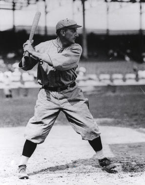 Posed batting of Bobby Wallace of the St. Louis Browns, 1916 - BL-3505-87 (National Baseball Hall of Fame Library)