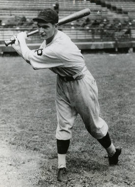 Lloyd Waner, Pittsburgh Pirates rookie, posed batting, October 3,1927 - BL-3798-68WT (National Baseball Hall of Fame Library)
