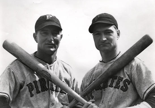 Brothers Lloyd and Paul Waner of the Pittsburgh Pirates. - BL-4522-79 (National Baseball Hall of Fame Library)
