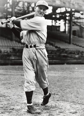Paul Waner of the Pittsburgh Pirates posed batting - BL-4617-90 (National Baseball Hall of Fame Library)